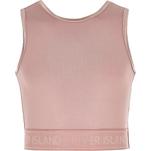 Girls RI Active pink crop top