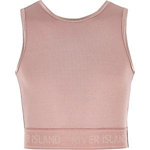Girls RI Active pink crop top