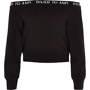 RI Active – Schwarzes Bardot-Sweatshirt