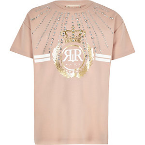 Girls RI Active pink embellished T-shirt