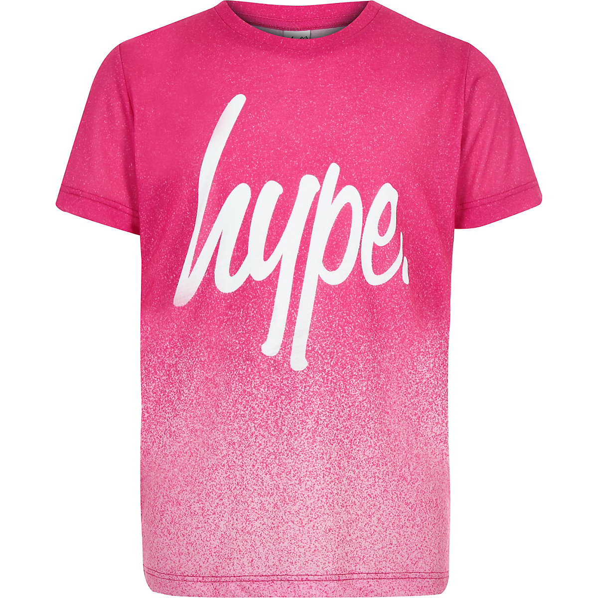 Girls Hype pink speckled T-shirt
