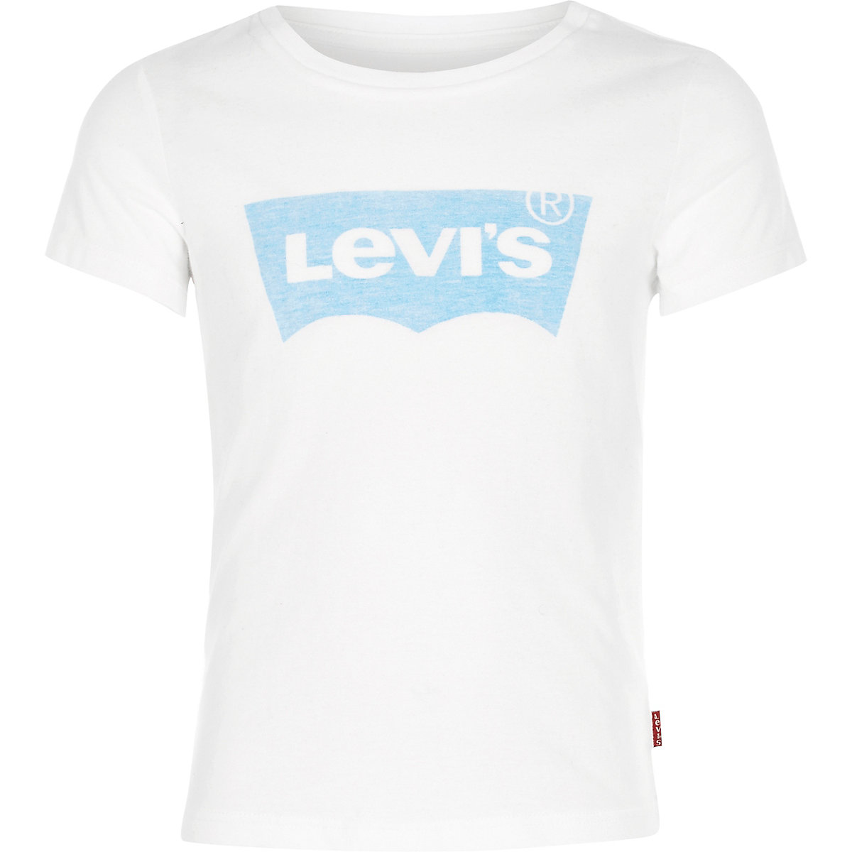Girls Levi's white logo T-shirt