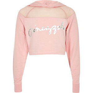 Roze hoodie van mesh met Pineapple-print voor meisjes