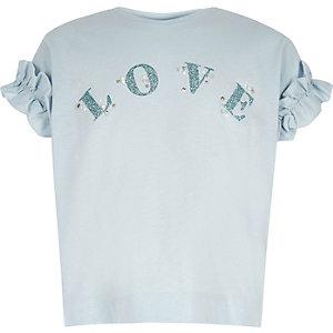 """Blaues T-Shirt """"Love"""""""