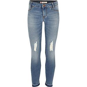 Levi's - Blauwe ripped jeans voor meisjes