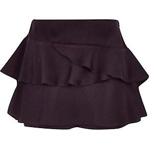 Girls purple rara frill skort