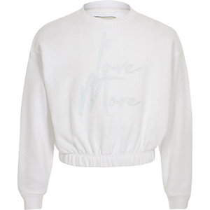 "Weißes Sweatshirt ""Love more"""
