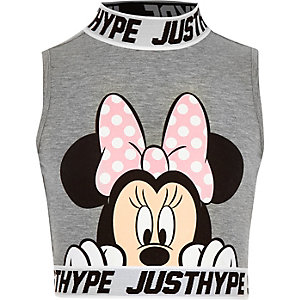 Hype – Minnie Mouse – Graues Crop Top