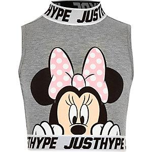 Jersey fabric Minnie Mouse print peek T-shirt