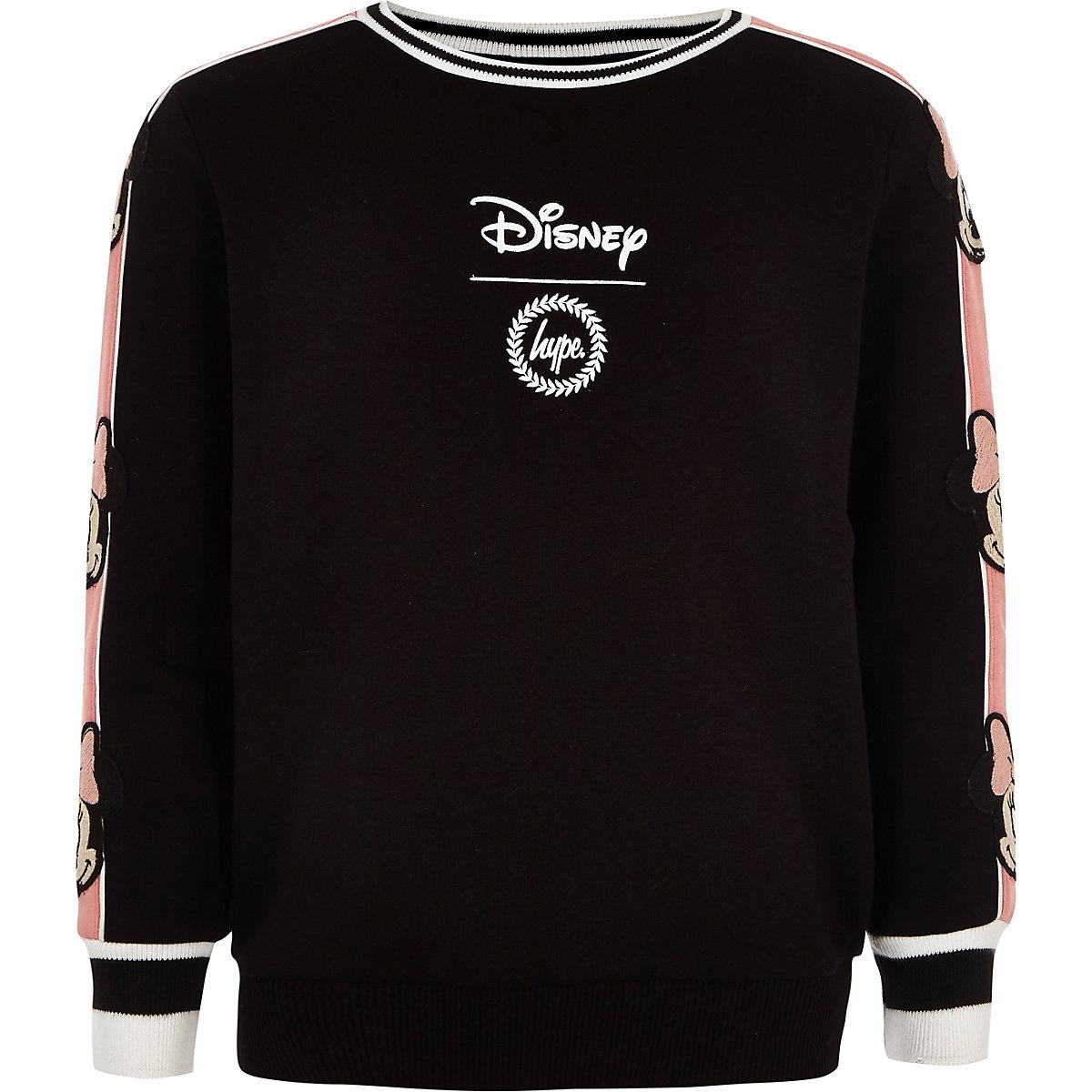 Girls black Hype Disney sweatshirt