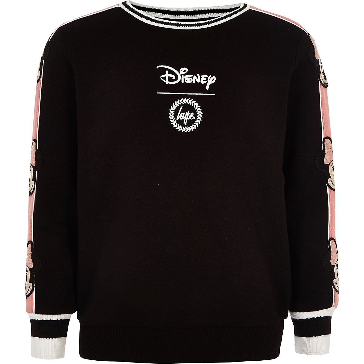 Girls black Hype Disney sweatshirt