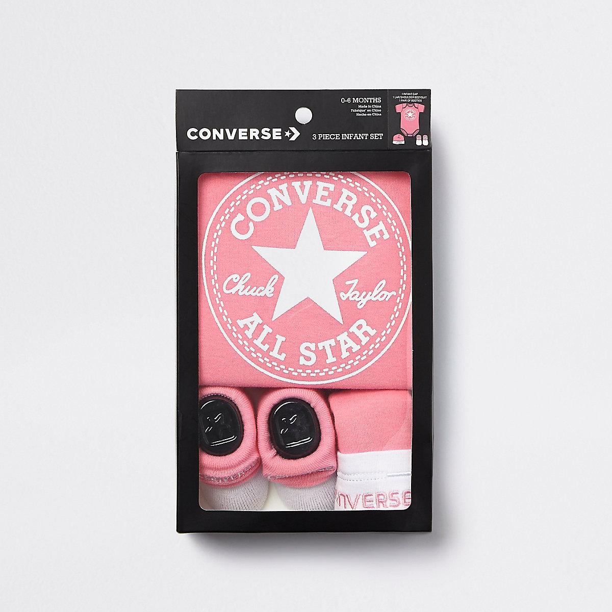 785630538b66 Baby Converse All Star pink set - Baby Girls Babygrows - Mini Girls - girls