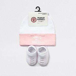 Franklin & Marshall – Ensemble avec bonnet rose pour bébé