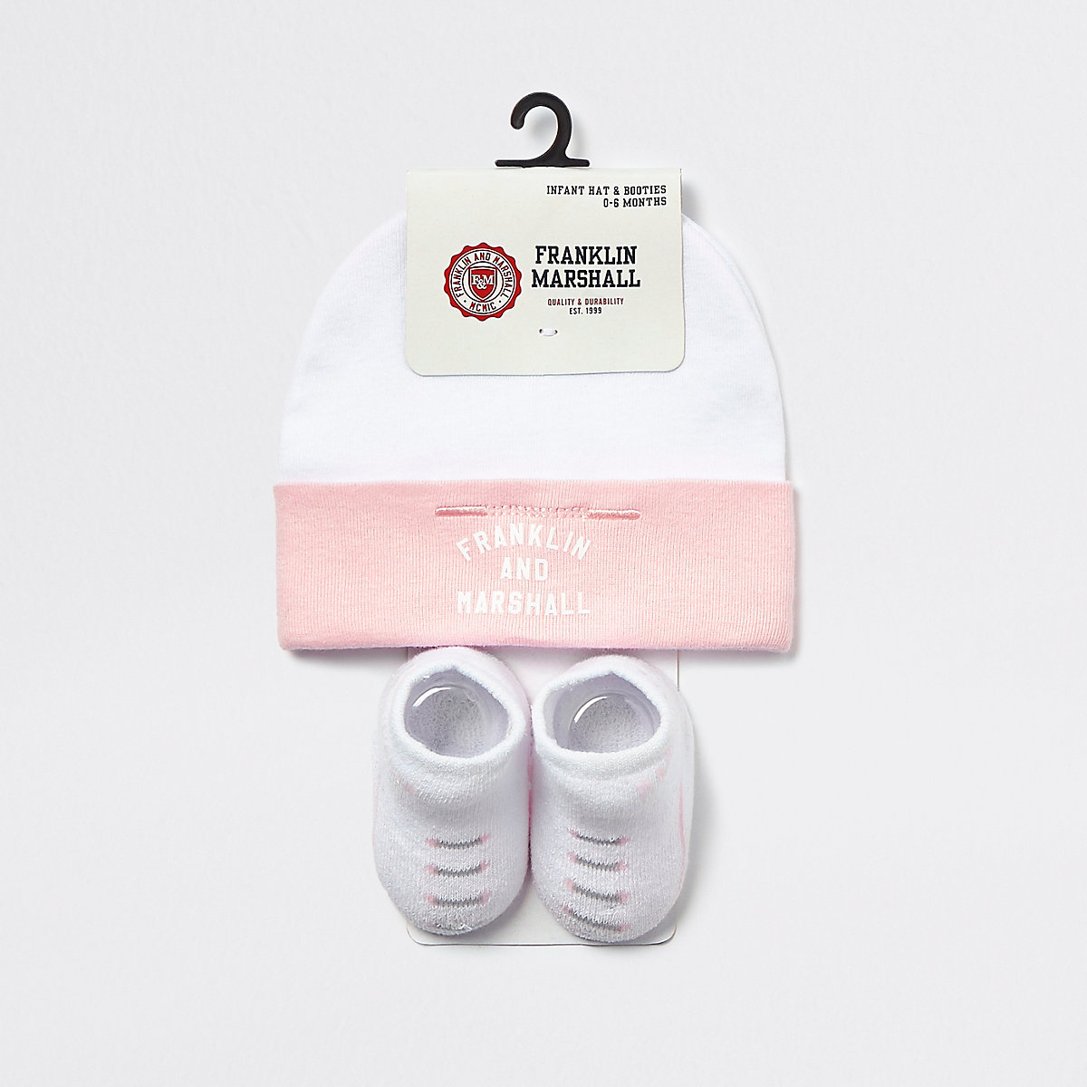 Baby Franklin & Marshall pink hat set