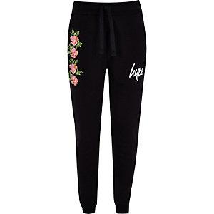 Hype – Pantalon de jogging à fleurs noir pour fille