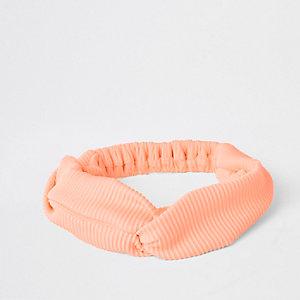 Orange twist swim headband