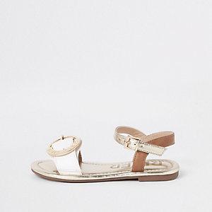 Sandales blanches à boucle RI pour fille