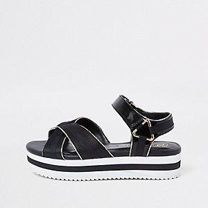 Chaussures à plateforme sport noires pour fille