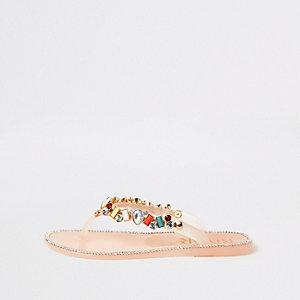 Jelly teenslippers met siersteentjes voor meisjes