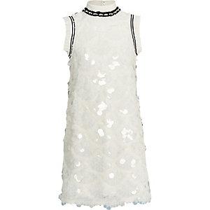Witte jurk met lovertjes voor meisjes
