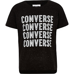 Converse – Schwarzes T-Shirt