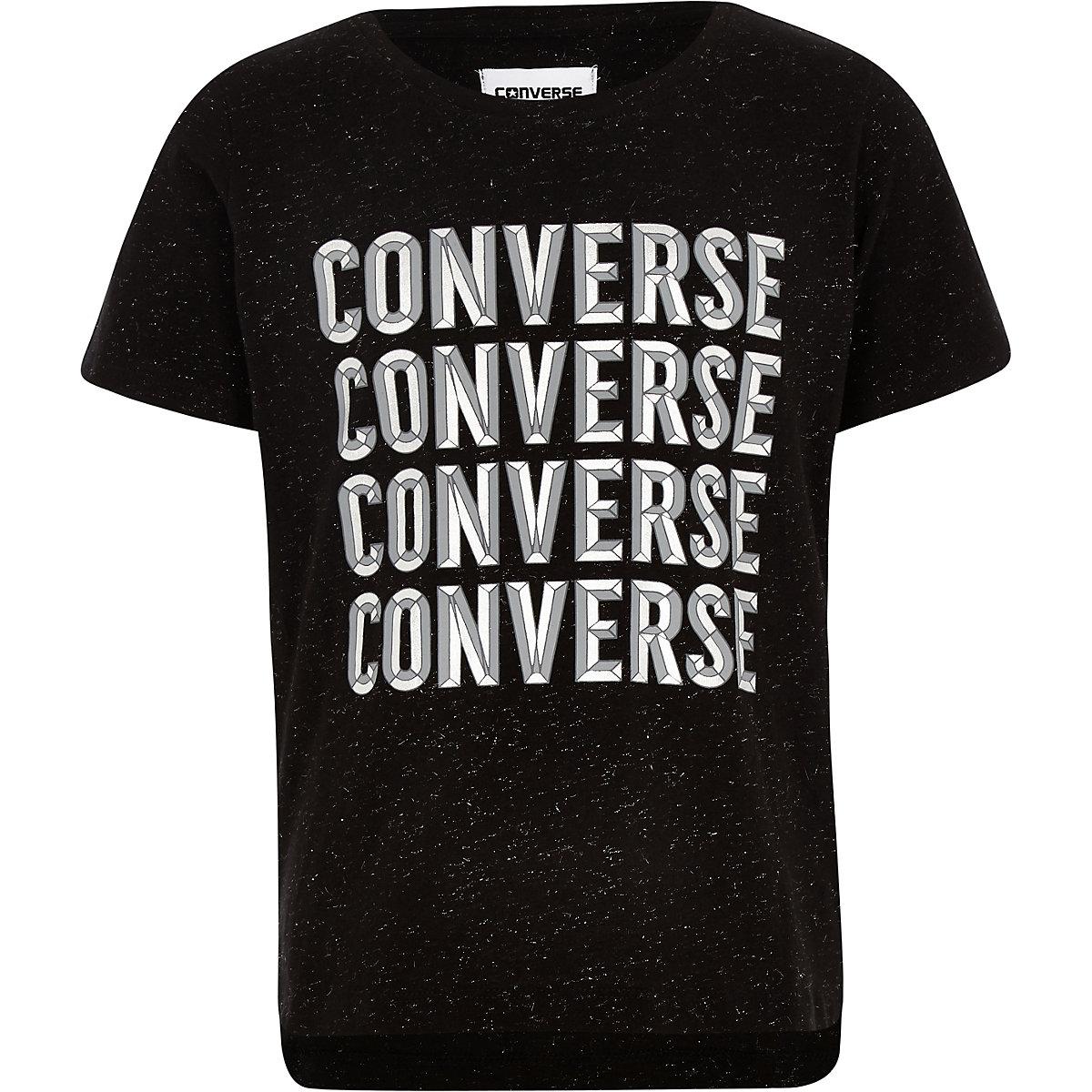 Girls black Converse T-shirt