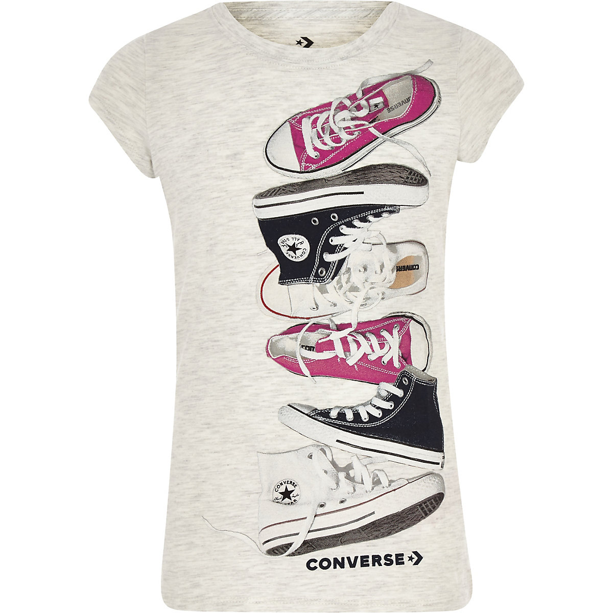 Girls white Converse chuck T-shirt