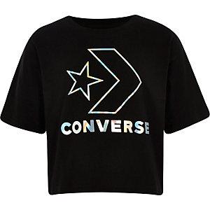 Converse star T-shirt in zwart voor meisjes
