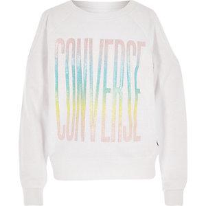 Converse – Weißes, kurzes T-Shirt
