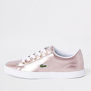 Lacoste - Roze vetersneakers voor meisjes