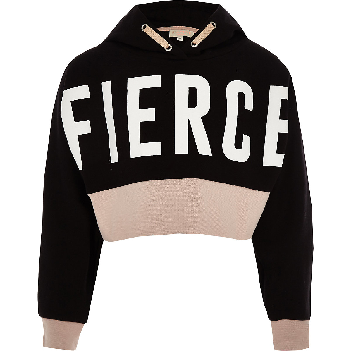 Girls RI Active black 'Fierce' hoodie