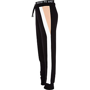 RI Active – Pantalon de jogging noir colour block pour fille