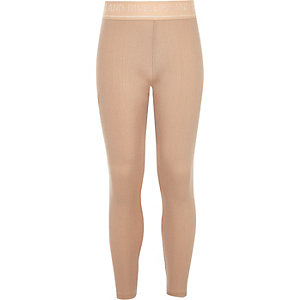 Girls pink metallic RI Active leggings