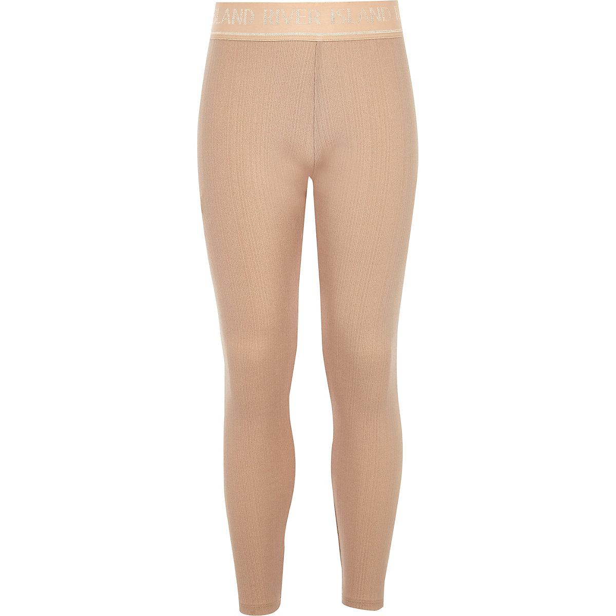 Girls pink metallic RI Active leggings