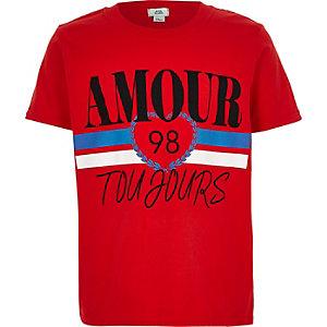 T-shirt « Amour Toujours » rouge pour fille
