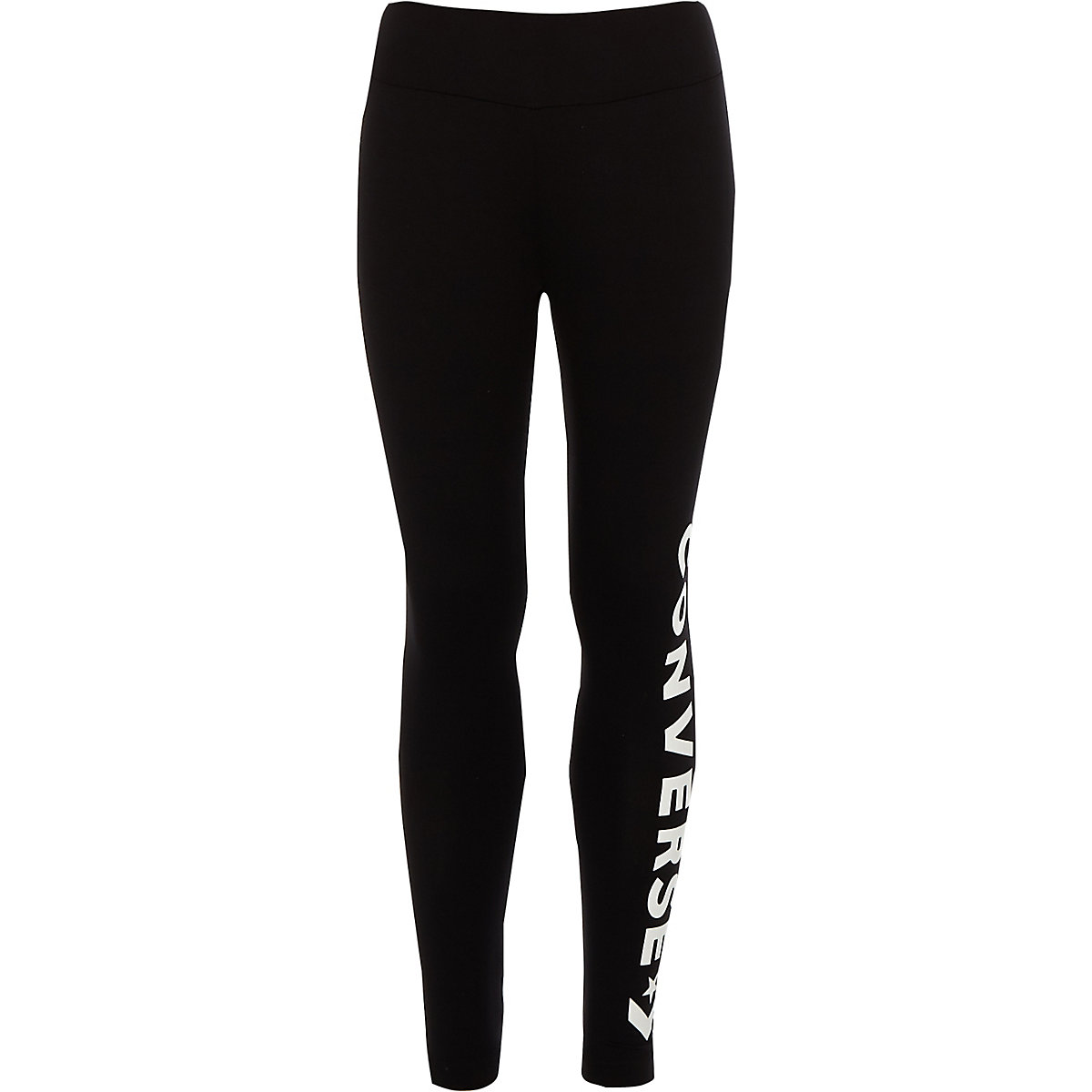 Girls black Converse logo leggings