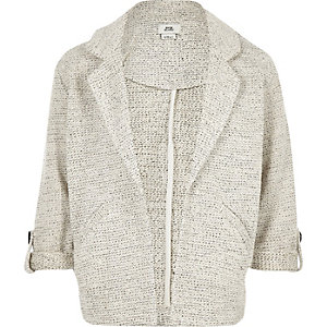 Girls grey jersey jacket