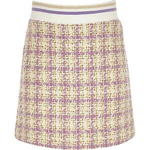 Paarse bouclé rok voor meisjes