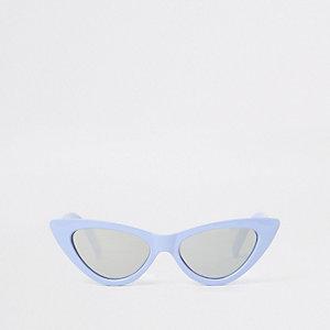 Blauwe cat-eye-zonnebril voor meisjes