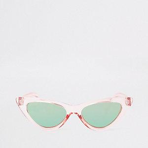 Lunettes de soleil rose forme œil de chat pour fille