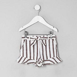 Gestreifte Shorts in Creme