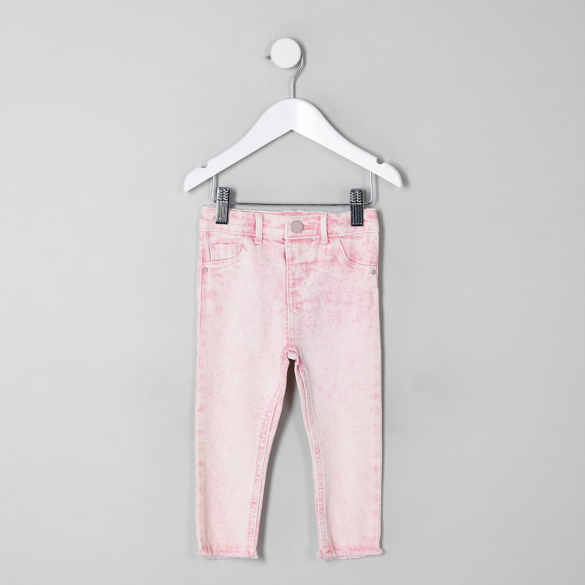 047e5bbe57c56 Mini girls pink acid wash Molly jeggings - Baby Girls Jeans - Baby Girls  Bottoms - Mini Girls - girls