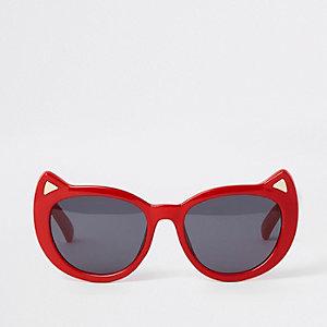 Rote Katzenaugen-Sonnenbrille