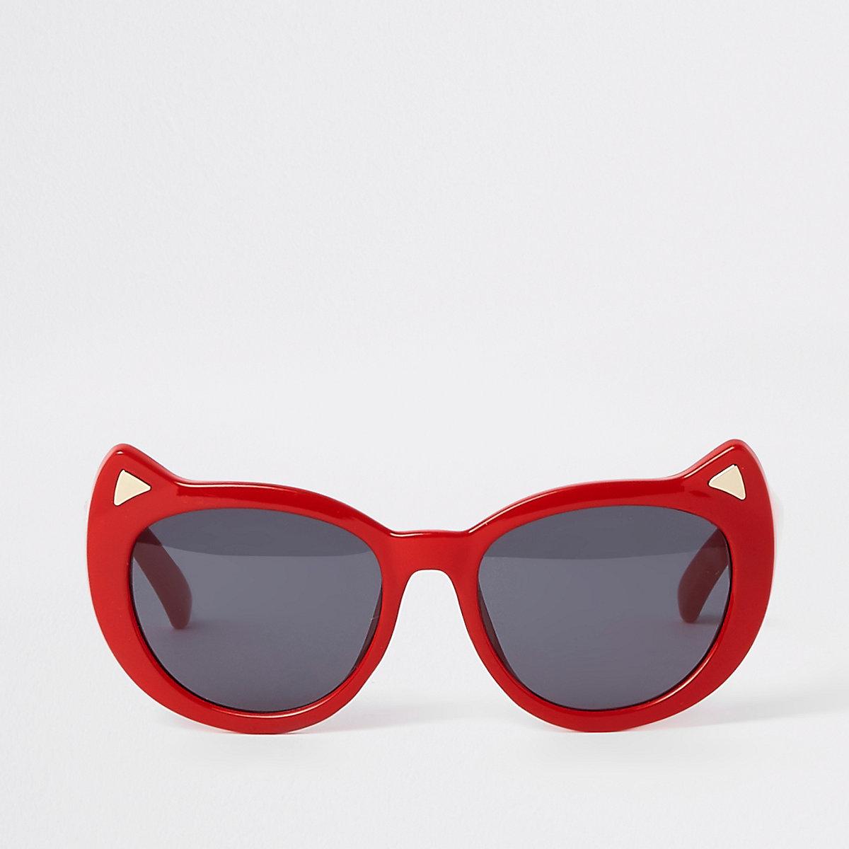 Mini girls red cat eye sunglasses