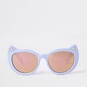 Mini girls purple cat eye sunglasses