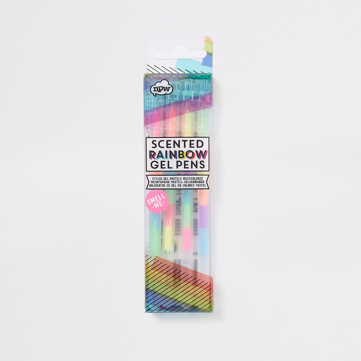 Rainbow scented gel pens