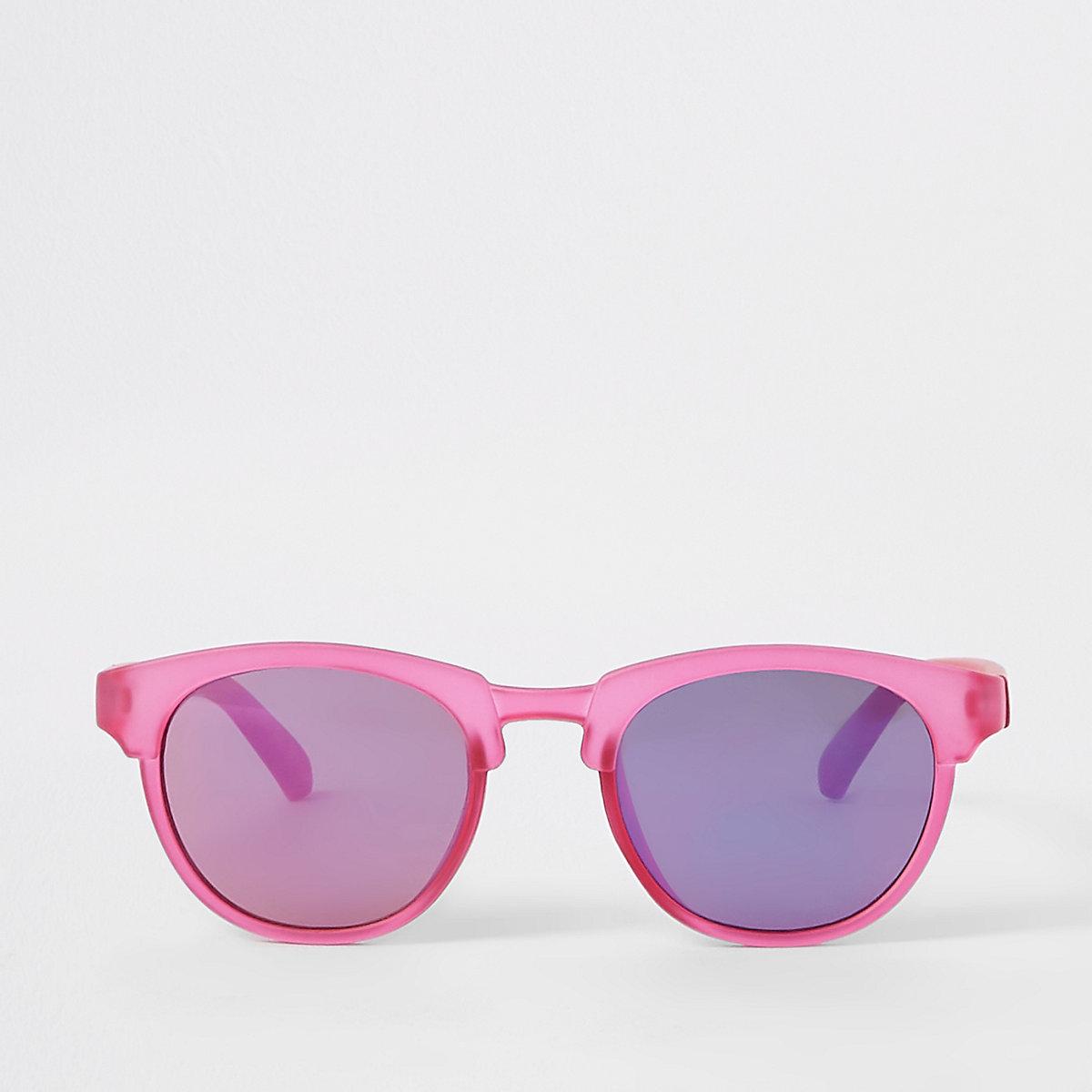 Mini girls bright pink sunglasses