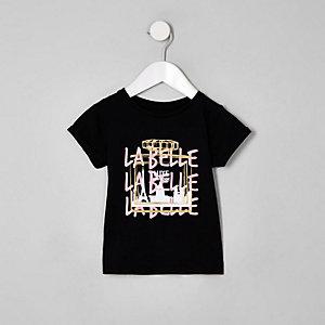 Mini girls black 'Labelle' perfume T-shirt