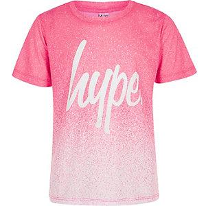 Hype – T-shirt moucheté rose effet dégradé pour fille