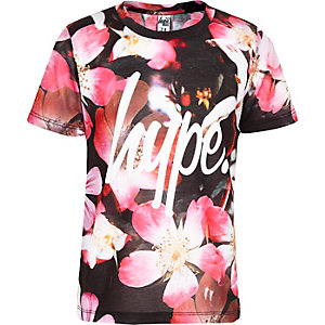 Hype - Roze T-shirt met bloemenprint voor meisjes